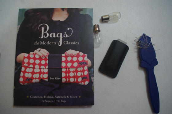 The bag sewing book I'm using, and goodies from Wawak. Making the Flame. Body positive sewing.