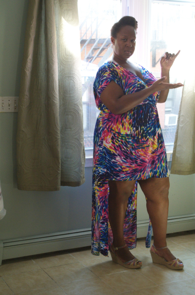 Fabulous birthday dress from McCall's 6744 on Making the Flame. Body positive sewing & style!
