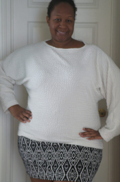 Squishy and soft, very cozy sweater on Making the Flame. Body positive sewing & style.