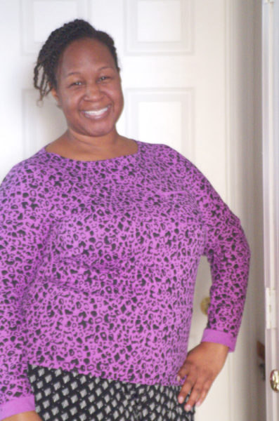 """Purple Animals: Two Wild New Shirts"" Butterick 6258 top – Making the Flame 