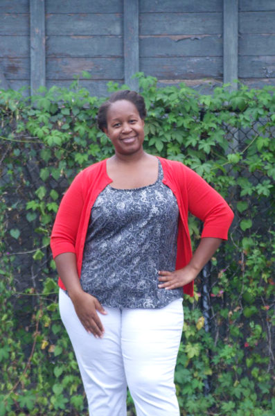 The Ella Top by Making the Flame. Body positive sewing and style.