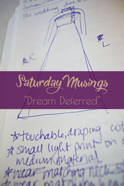 "Saturday Musings ""Dream Deferred"" on Making the Flame. Body positive sewing & style."