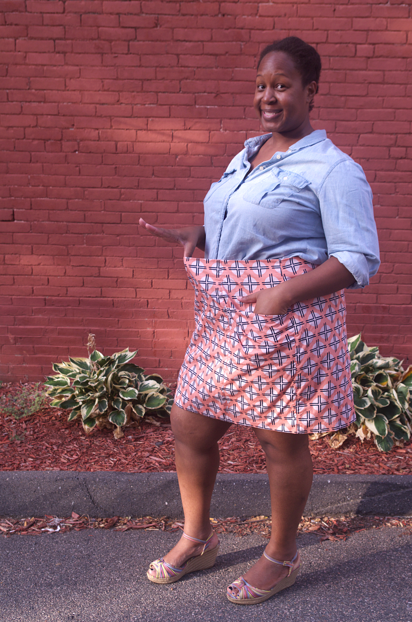Guess who made a Butterick 5249 skirt - for someone else? Body positive sewing & style on Making the Flame. For every body!