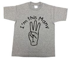 JackOfNone Etsy store - 3 year old birthday shirt