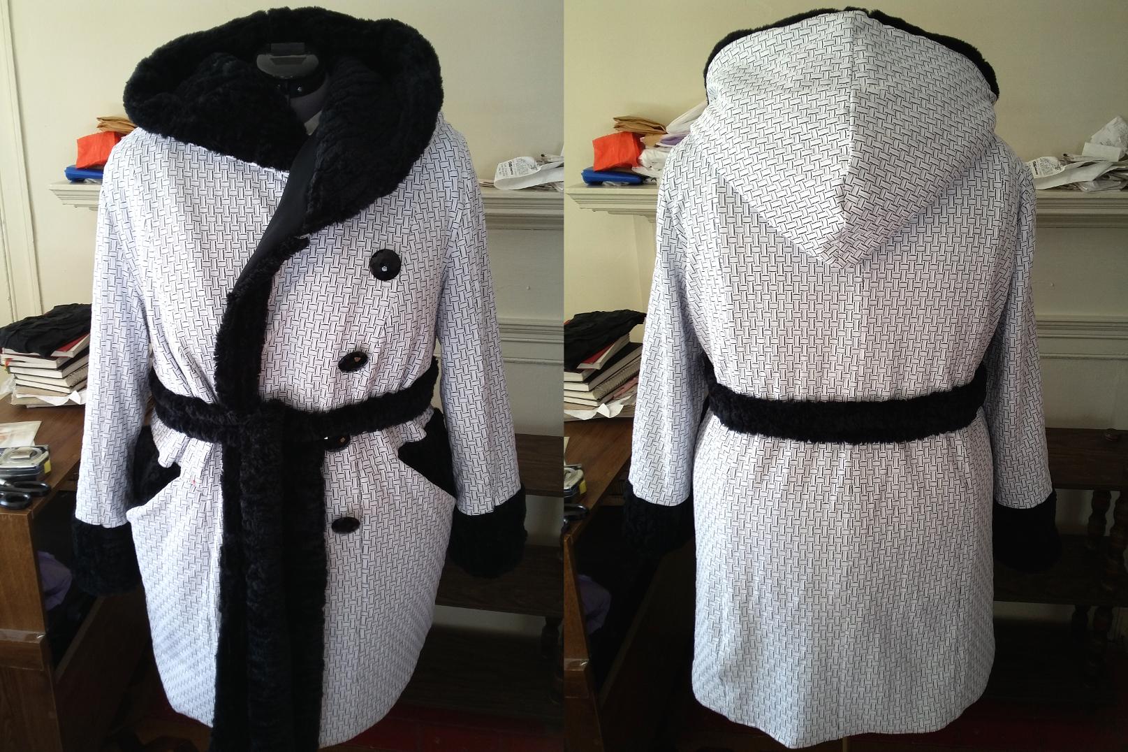 """January Roundup: Oh, Boy!"" Sneak peek at Lekala 4383 coat, a plus size sewing pattern – Making the Flame   Body Positive Sewing & Style"