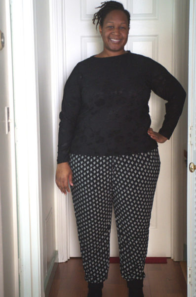"""""""When a Tunic Becomes Awesome Pants"""" Burda 6789 pants, a plus size pattern – Making the Flame 