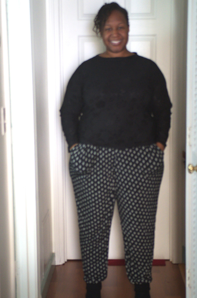 """When a Tunic Becomes Awesome Pants"" Burda 6789 pants, a plus size pattern – Making the Flame 