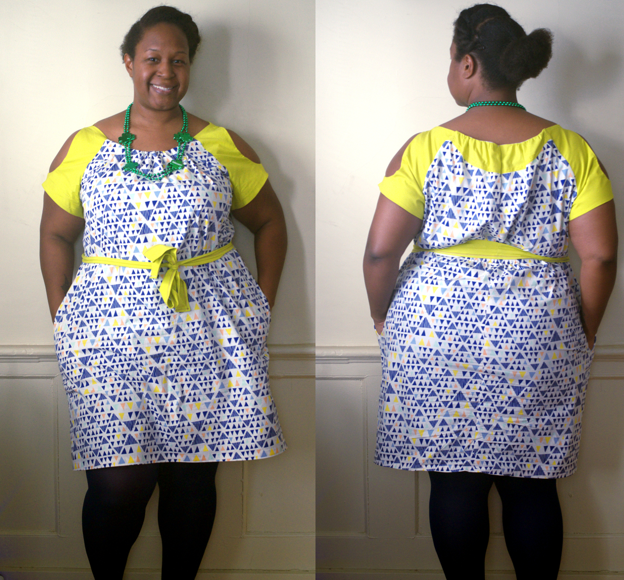 """The Wearing Of the Green (Sleeves)"" Simplicity 2406 Cynthia Rowley dress – Making the Flame 